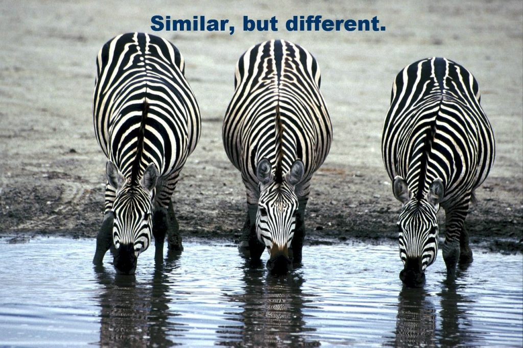 they are not the same!